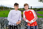 Daniel Fokseang and Padraig Wood after receiving their Leaving Cert results