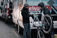 obligatory post-race bike cleaning<br /> <br /> Elite Men's Race<br /> GP Sven Nys / Belgium 2018