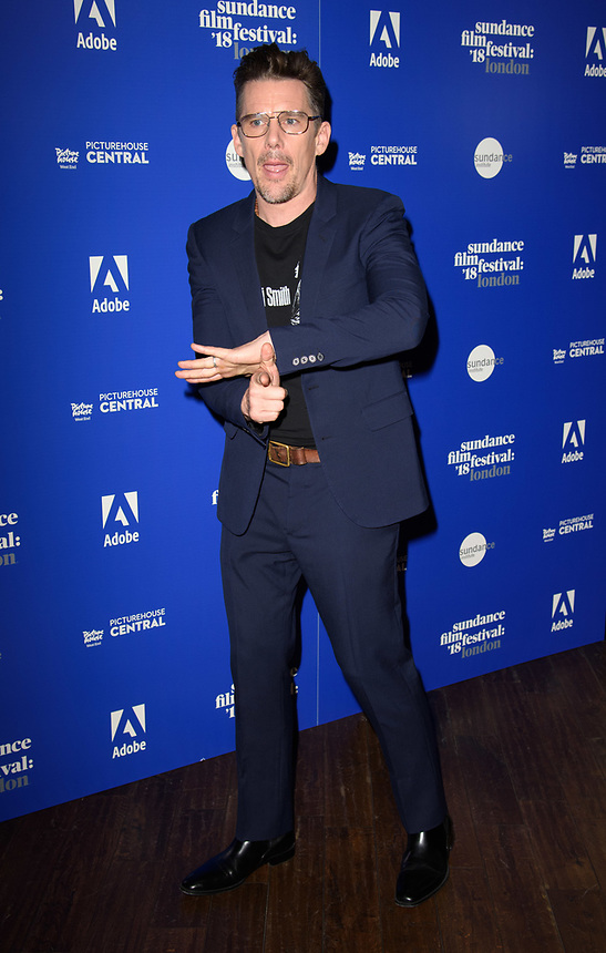 "Ethan Hawke<br /> at the ""First Reformed"" premiere as part of the Sundance London Festival 2018, Picturehouse Central, London<br /> <br /> ©Ash Knotek  D3404  01/06/2018"