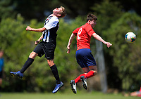 Action from the 2019 National Age Group Tournament Under-14 Boys football match between Northern and WaiBoP at Memorial Park in Petone, Wellington, New Zealand on Friday, 13 December 2019. Photo: Dave Lintott / lintottphoto.co.nz