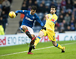 Rangers v St Johnstone…16.12.17…  Ibrox…  SPFL<br />Joe Shaughnessy clears from Daniel Candeias<br />Picture by Graeme Hart. <br />Copyright Perthshire Picture Agency<br />Tel: 01738 623350  Mobile: 07990 594431