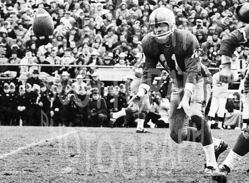 Ken Ploen Winnipeg Blue Bombers quarterback 1965 Grey Cup. Copyright photograph Ted Grant