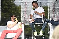 Manu Bennett und Nick Tarabay at German Comic Con Dortmund Limited Edition, Dortmund, Germany - 12 Sep 2021 ***FOR USA ONLY** Credit: Action Press/MediaPunch