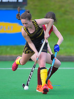 Action from the women's premier one Wellington Hockey match between Hutt United and Dalefield at National Hockey Stadium in Wellington, New Zealand on Saturday, 4 July 2020. Photo: Dave Lintott / lintottphoto.co.nz