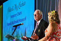 Ronald McDonald House Jacksonville annual McGala fundraiser Honorary Chairs Peter (left) and Meg Kuchar speak during the event Saturday, May 19, 2018 at the Marriott Sawgrass in Ponte Vedra Beach, Fl.