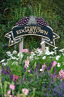 Welcome to Edgartown sign, Martha's Vineyard, Massachusetts, USA
