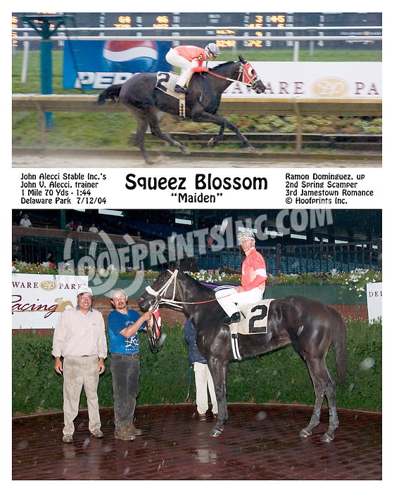 Squeez Blossom winning at Delaware Park  on 7/12/04