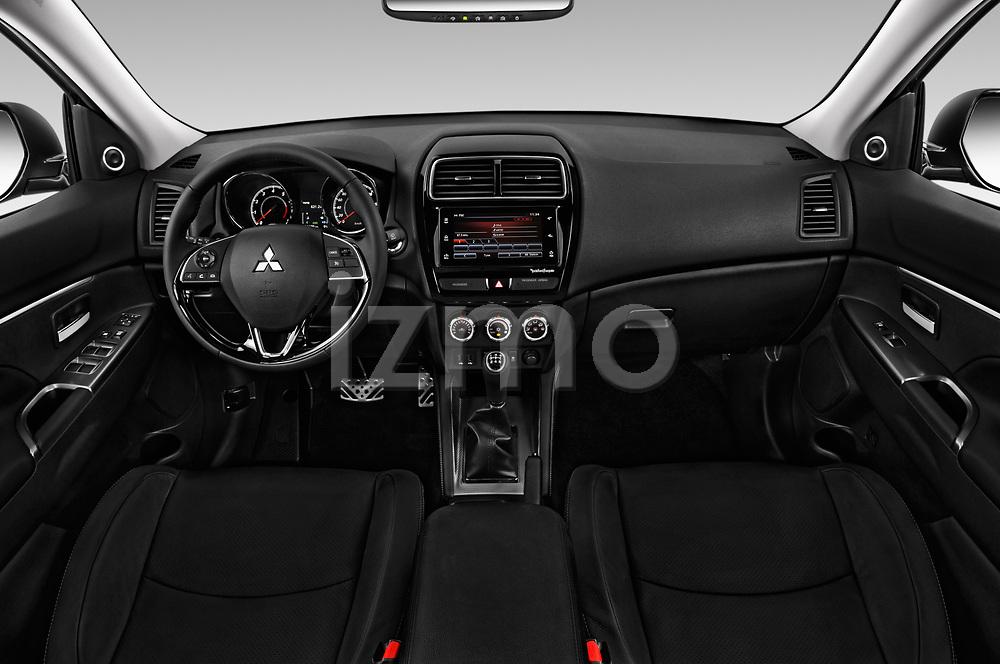 Stock photo of straight dashboard view of a 2019 Mitsubishi ASX Invite Style 5 Door SUV