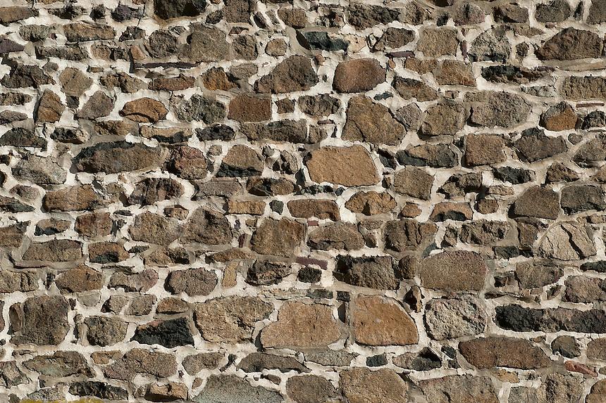 Fieldstone wall.