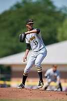West Virginia Black Bears starting pitcher Osvaldo Bido (31) delivers a pitch during a game against the Batavia Muckdogs on July 1, 2018 at Dwyer Stadium in Batavia, New York.  Batavia defeated West Virginia 8-4.  (Mike Janes/Four Seam Images)