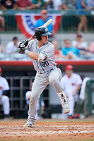 Daytona Tortugas catcher Tyler Stephenson (30) at bat during a game against the Florida Fire Frogs on April 7, 2018 at Osceola County Stadium in Kissimmee, Florida.  Daytona defeated Florida 4-3 in a six inning rain shortened game.  (Mike Janes/Four Seam Images)
