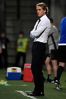 Roberto Mancini coach of Italy reacts during the Qatar 2022 world cup qualifying football match between Italy and Lithuania at Citta del tricolore stadium in Reggio Emilia (Italy), September 8th, 2021. Photo Andrea Staccioli / Insidefoto