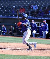 Sherten Apostel - Texas Rangers 2021 spring training (Bill Mitchell)