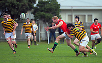 Action from the Swindale Shield Wellington premier men's club rugby union match between Marist St Pat's and Wellington Axemen at Evan's Bay Park in Wellington, New Zealand on Saturday, 12 September 2020. Photo: Dave Lintott / lintottphoto.co.nz