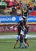 South Africa v Fiji men's pool match. Day two of the 2020 HSBC World Sevens Series Hamilton at FMG Stadium in Hamilton, New Zealand on Sunday, 26 January 2020. Photo: Dave Lintott / lintottphoto.co.nz