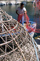 Europe/France/Corse/2B/Haute-Corse/Cap Corse/Centuri: Nasses à langoustes sur le port