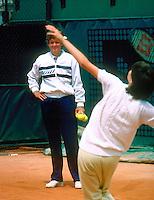 1986, Roland Garros, Hanna Mandlikova being coached by Betty Stove