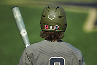 Carter Young (9) of the Vanderbilt Commodores waits for his turn to bat during the game against the South Carolina Gamecocks at Hawkins Field on March 21, 2021 in Nashville, Tennessee. (Brian Westerholt/Four Seam Images)