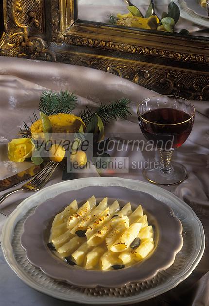 Gastronomie générale / Cuisine générale : Repas de Noël : Gratin de Macaroni aux truffes- Vin Chateau Léoville Las Cases
