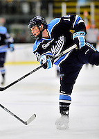 3 December 2011: University of Maine Black Bear forward Jon Swavely, a Sophomore from Reading, PA, in action against the University of Vermont Catamounts at Gutterson Fieldhouse in Burlington, Vermont. The Catamounts fell to the Black Bears 5-2 in the second game of their 2-game Hockey East weekend series. Mandatory Credit: Ed Wolfstein Photo