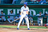 Cody Thomas (46) of the Ogden Raptors at bat against the Billings Mustangs in Pioneer League action at Lindquist Field on August 12, 2016 in Ogden, Utah. Billings defeated Ogden 7-6. (Stephen Smith/Four Seam Images)