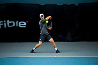 Men's singles final between Finn Tearney (pictured) and Ajeet Rai. 2019 Wellington Tennis Open finals at Renouf Centre in Wellington, New Zealand on Sunday, 22 December 2019. Photo: Dave Lintott / lintottphoto.co.nz