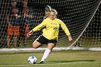 SAN ANTONIO, TX - OCTOBER 12, 2007: The Stephen F. Austin State University Ladyjacks vs. The University of Texas at San Antonio Roadrunners Women's Soccer at the UTSA Soccer Field. (Photo by Jeff Huehn)