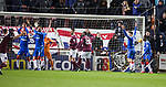 29.02.2020 Hearts v Rangers: Ball ends up in net but goal disallowed