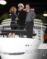 "LOS ANGELES - DEC 30:  Jill Whelan, Gavin MacLeod, Fred Grandy at the Original ""Love Boat"" Cast decorates Princess Cruises' Rose Parade Float at a Rosemont Pavilion on December 30, 2014 in Pasadena, CA"