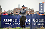 Pic Kenny Smith............. 02/10/2009.Dunhill Links Champioship, St Andrews  Links, Ernie Els in deep thought on the 3rd tee