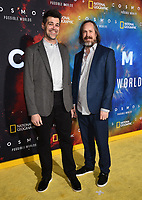 """LOS ANGELES - FEBRUARY 26: Animation director Brent Woods (L) and Andrew Brandau attend National Geographic's 2020 Los Angeles premiere of """"Cosmos: Possible Worlds"""" at Royce Hall on February 26, 2020 in Los Angeles, California. Cosmos: Possible Worlds premieres Monday, March 9 at 8/7c on National Geographic. (Photo by Frank Micelotta/National Geographic/PictureGroup)"""