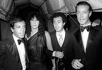 Steve Rubell Cher David Geffen Halston 1978<br /> Photo by Adam Scull/PHOTOlink