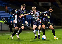 Bolton Wanderers' Ronan Darcy competing with Newcastle United U21's Achraf Lazaar (right) <br /> <br /> Photographer Andrew Kearns/CameraSport<br /> <br /> EFL Papa John's Trophy - Northern Section - Group C - Bolton Wanderers v Newcastle United U21 - Tuesday 17th November 2020 - University of Bolton Stadium - Bolton<br />  <br /> World Copyright © 2020 CameraSport. All rights reserved. 43 Linden Ave. Countesthorpe. Leicester. England. LE8 5PG - Tel: +44 (0) 116 277 4147 - admin@camerasport.com - www.camerasport.com