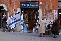 Roma, quartiere Ebraico. Rome, Jewish district. ..