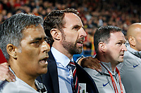 England Manager Gareth Southgate sings the national anthem before the UEFA Euro 2020 Qualifying Group A match  <br /> Podgorica 25-3-2019 <br /> Football Euro2020 Qualification Montenegro - England <br /> Foto Daniel Chesterton / PHC / Insidefoto <br /> ITALY ONLY