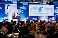 18e Forum économique international des Amériques (Conférence de Montréal) le 11 juin 2012, prise de parole de M. Jean Charest // 18th International Economic Forum of the Americas (Montreal Conference) June 11, 2012, Speech by Mr. Jean Charest<br /> PHOTO :  Agence Quebec presse