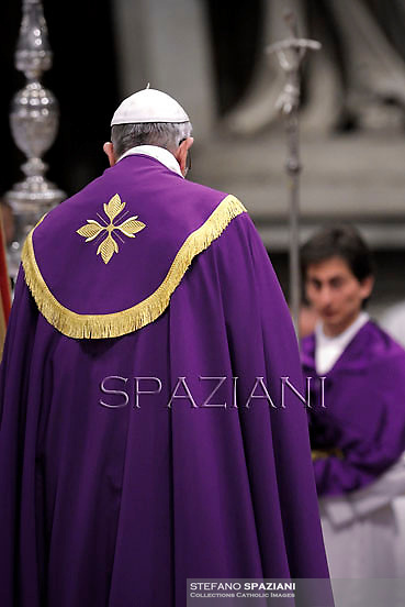 Pope Francis celebrates the vespers at Saint Peter's Basilica in the Vatican on November 30, 2013.