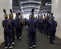 The University of Pittsburgh marching band gets ready to take the field before the start of the game. The Pitt Panthers football team defeated the Georgia Tech Yellow Jackets 24-19 on September 15, 2018 at Heinz Field in Pittsburgh, Pennsylvania.