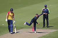 Marnus Labuschagne in bowling action for Glamorgan during Glamorgan vs Essex Eagles, Vitality Blast T20 Cricket at the Sophia Gardens Cardiff on 13th June 2021