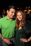 Edward Sanchez and Cindi Rose at the St. Patrick's Day party at the Hotel ZaZa Monday March 17,2008.(Dave Rossman/For the Chronicle)