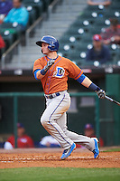 Durham Bulls shortstop Daniel Robertson (28) at bat during a game against the Buffalo Bisons on June 13, 2016 at Coca-Cola Field in Buffalo, New York.  Durham defeated Buffalo 5-0.  (Mike Janes/Four Seam Images)