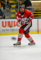 19 January 2008: Northeastern University Huskies' defenseman Jacques Perreault, a Junior from Grosse Pointe Farms, MI, in action against the University of Vermont Catamounts at Gutterson Fieldhouse in Burlington, Vermont. The Catamounts defeated the Huskies 5-2 to close out their 2-game weekend series...Mandatory Photo Credit: Ed Wolfstein Photo