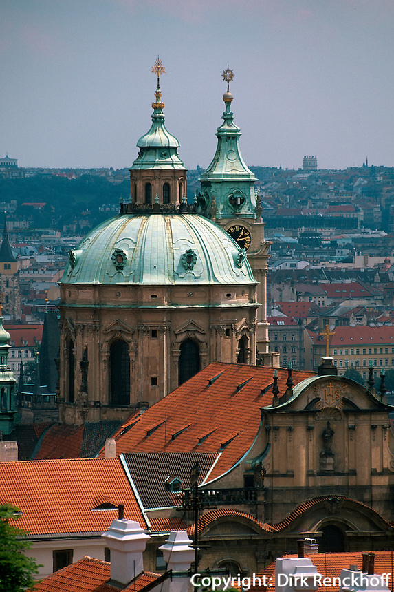 Kleinseite (Mala Strana), St. Niklas, Prag, Tschechien, Unesco-Weltkulturerbe.