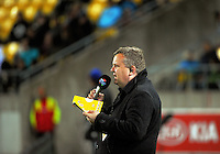 RadioSport commentator Matt Buck calls the game during the Super Rugby match between the Hurricanes and Southern Kings at Westpac Stadium, Wellington, New Zealand on Friday, 25 March 2016. Photo: Dave Lintott / lintottphoto.co.nz