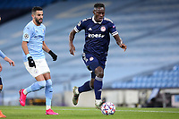 3rd November 2020; City of Manchester Stadium, Manchester, England. UEFA Champions League group stages, Manchester City versus Olympiacos;  Mohamed Camara (OL) on the Ball