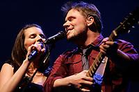 Montreal (Qc) CANADA - Mar 2010- Marie-Eve Janvier sing with (boyfriend) Jean Francois Breau