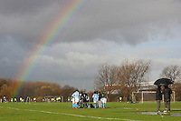 A rainbow is seen over the East Marsh, Hackney during Hackney & Leyton Sunday League matches - 29/11/09 - MANDATORY CREDIT: Gavin Ellis/TGSPHOTO - Self billing applies where appropriate - Tel: 0845 094 6026