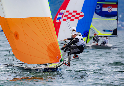 Parsi prospects  - Rob Dickson and Sean Waddilove in the 49er Photo: Sailing Energy