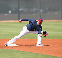 Asdrubal Cabrera. Cleveland Indians spring training workouts at their complex in Goodyear, AZ - 03/06/2010.Photo by:  Bill Mitchell/Four Seam Images.
