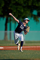 John Spikerman (55) during the WWBA World Championship at Lee County Player Development Complex on October 9, 2020 in Fort Myers, Florida.  John Spikerman, a resident of Montgomery, Texas who attends Lake Creek High School, is committed to Oklahoma.  (Mike Janes/Four Seam Images)